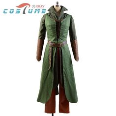 The Hobbit 2/3 Elf Tauriel Pleather Outfit Hoodies Pants Movies Halloween Cosplay Costumes For Women Custom Made Free Shipping