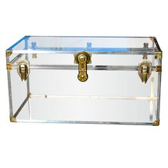 Vintage Lucite Steamer Trunk - what a cute coffee table idea!