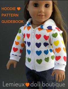 Pixie Faire Lemieux hoodie Doll Clothes by PixieFairePatterns