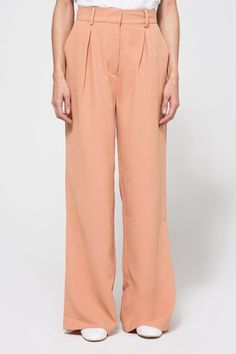 Jump-Start Your Spring Wardrobe With These 20 Style Essentials #refinery29  http://www.refinery29.com/wardrobe-essentials-spring-2016#slide-16  The Pleated TrouserThere's nothing cooler than pairing a floor-grazing pair of slouchy trousers with a white sneaker and a tee. Try this peachy pair and you may never go back to your skinny jeans again.Just Female Roz Pants, $105, available at Need Sup...