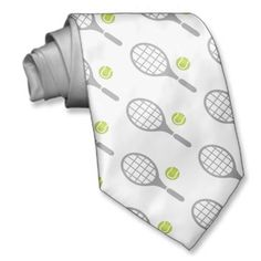 Tennis racket and ball custom ties. #tennis, #ball, #racket, #tennisgifts, #neckties See more tennis gifts here http://www.zazzle.com/sports_gifts/products/cg-196181571095549222?rf=238228936251904937&CMPN=zBookmarklet