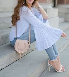casual dresses for women Stylish Dress Designs, Stylish Dresses, Casual Dresses, Casual Outfits, Kurti Sleeves Design, Sleeves Designs For Dresses, Kurta Designs, Blouse Designs, Look Fashion