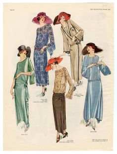 1921-1940, Plate 021. Fashion plates, 1700-1955. The Costume Institute Fashion Plates. The Metropolitan Museum of Art, New York. Gift of Woodman Thompson (b17520939)   This plate is from 1923.#fashion