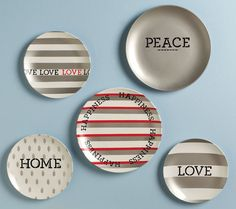 "Glass Painting on ""Typewriter Inspired"" plates with Martha Stewart Products!"