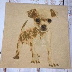 Look at that cute Chihuahua face 😍 Tapestry zipped backed cushion covers.handcrafted with heavy cotton backing fabric & subtly coloured tapestry style fronts.ready to go. Personalised Cushions, Cute Chihuahua, Dog Blanket, Fabric Gifts, Ready To Go, Dog Gifts, Cushion Covers, Baby Animals, Personalized Gifts
