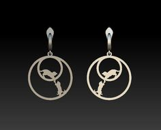 55d8f2dd1 Cat jewelry Silver Cat еarrings Everyday earrings Cat lover gift Animal earrings  Girl gift Sterling