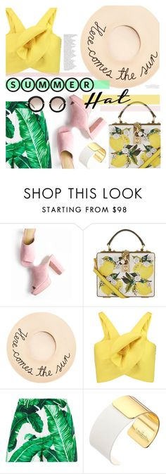 """""""summer hat!"""" by cutandpaste ❤ liked on Polyvore featuring Dolce&Gabbana, Eugenia Kim, Delpozo, Kate Spade, Miu Miu, By Terry and summerhat"""