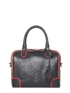 Olivia Snake Embossed Leather Bag on shopstyle.com
