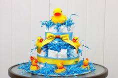 Ducky Derby Diaper Cake