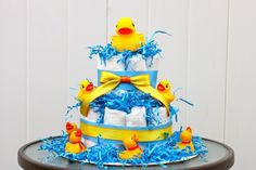 Ducky Derby Diaper Cake