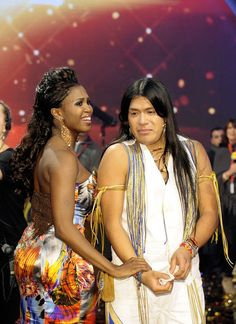 Leo Santillan Rojas Photos - Jury member Motsi Mabuse together with winner Leo Santillan Rojas during the Final of 'Das Supertalent' TV Show on December 2011 in Cologne, Germany. Native American Music, Native American Indians, Native Americans, Leo, Cologne Germany, December 17, Tv Shows, Finals, Photos