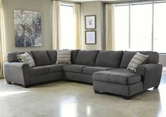 Sorenton Slate Right Facing Chaise Sectional, /category/living-room/sorenton-slate-right-facing-chaise-sectional.html