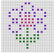 Ravelry: Flower Bobble Chart by Kari Philpott