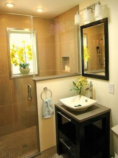 small bathroom with walk in shower | ... Bathroom Vanity And White Sink: Fascinating Walk In Showers For Small