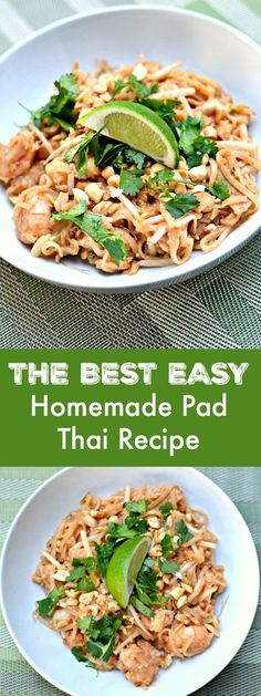 The Best Easy Homemade Pad Thai Recipe. Whether you're a lover of all things Thai and ethnic food related or you've never tried your hand at this kind of thing before, this recipe is accessible and easy. (food and drink asian) Homemade Pad Thai, Easy Pad Thai, Asian Recipes, Healthy Recipes, Thai Food Recipes Easy, Healthy Snacks, Snacks Kids, Japanese Recipes, Chinese Recipes
