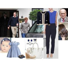 Visiting Pops At King Edwards VII Hospital With Her Husband, Daughter, and Brother-in-law by madeleine-duchessofcam on Polyvore featuring 0039 Italy, L.K.Bennett, Cartier, INC International Concepts and Anya Hindmarch