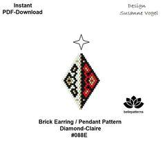 beaded earring patternbrick