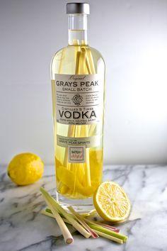 Lemongrass and Lemon-Peel Infused Vodka