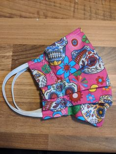 Beautiful soft cotton fabric , very funky Skull Face Mask, Day Of The Dead Skull, Handmade Items, Handmade Gifts, Heeled Mules, Cotton Fabric, Trending Outfits, Unique Jewelry, Heels