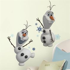 @rosenberryrooms is offering $20 OFF your purchase! Share the news and save! (*Minimum purchase required.) Disney Frozen Olaf the Snow Man Wall Decals #rosenberryrooms