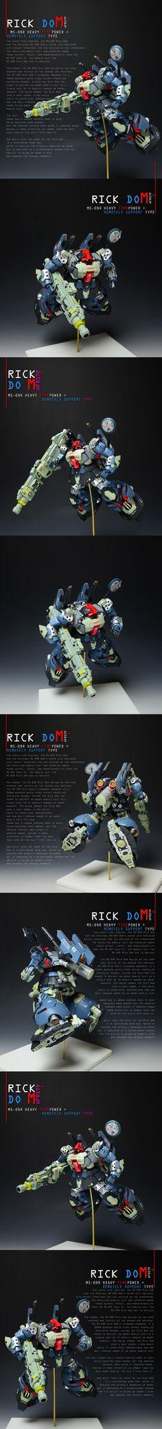 ■重火力 リックドム MS-09R HF+ RS 徹底改修 塗装済み完成品■ - ヤフオク!