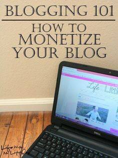 Blogging 101: How to Monetize Your Blog. Great tips on how to make money blogging from a blogger who is doing it herself