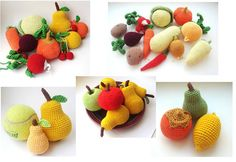 Crochet Baby Fruit Play food Set of 4 di MiracleFromThreads