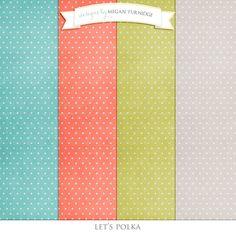 Freebie Friday: Polka Dot Papers | Digital Scrapbook Freebies | Designs by Megan Turnidge | Digital Scrapbooking and Crafting Blog