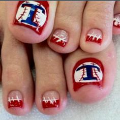 Texas Rangers Baseball toes! if only I could actually do this!