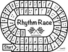 Music Centers: Rhythm Race Note Naming Edition Level 3 - R Rhythm Games, Music Theory Games, Music Games, Music Lessons For Kids, Music Lesson Plans, Music For Kids, Piano Lessons, Middle School Music, Music Worksheets