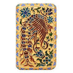 Superb Russian Plique-a-Jour Enamel Cigarette Case 1900c | From a unique collection of vintage enamel frames and objects at http://www.1stdibs.com/jewelry/objets-dart-vertu/enamel-frames-objects/