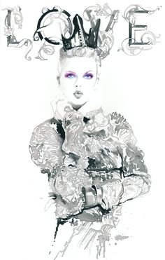 Print of Ink Illustration Watercolour Fashion Illustration.