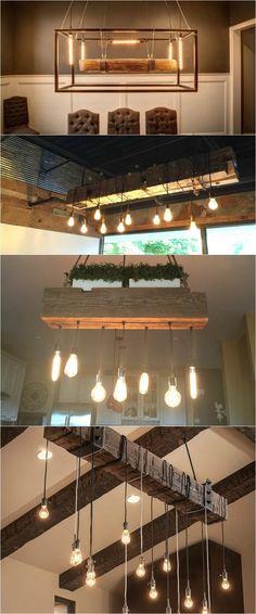 Wood Light Fixtures Video Showcase - #PendantChandelierLighting #Chandelier #Kitchen #LightBulb #LightFixtures #Recycled #Rustic #Showcase #TopBest #Video #Wood (source: idlights.com)