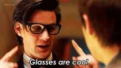 """In """"The Girl Who Waited,"""" Rory thinks the Doctor looks """"ridiculous,"""" but we think otherwise. The glasses double as a live video cam, which makes the only point-of-view camera that's ever taped intergalactic travel. Take that, Google Glass.  Source: BBC via Tumblr user thereisonlytheforce"""