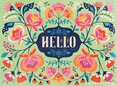 Clairice Gifford https://www.behance.net/gallery/23002995/Hello-Floral