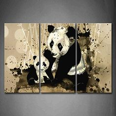 Find amazing First Wall Art - Artistic Mother Panda With Cub Bamboo Wall Art Painting The Picture Print On Canvas Animal Pictures For Home Decor Decoration Gift panda gifts for your panda lover. Bedroom Stickers, Nursery Decals, Wall Art Pictures, Print Pictures, Animal Pictures, Framed Wall Art, Wall Art Prints, Canvas Prints, Art Vinyl