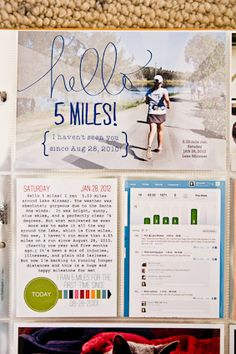 Listgirl's (Christine) Hybrid Week: Project Life.  I love what Listgirl did with her running photo.