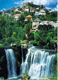 Jajce, Bosnia. The town is also famous for its beautiful waterfall where the Pliva River meets the river Vrbas. It was 30 meters high, but during the Bosnian war, the area was flooded and the waterfall is now 20 meters high. Above an impressive urban waterfall, Jajce's fortified Old Town climbs a steep rocky knoll to the powerful, ruined castle where Bosnia's medieval kings were once crowned. The surrounding array of mountains, lakes and canyons make Jajce a potentially useful exploration…
