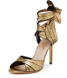VIVIENNE WESTWOOD Gold Aphrodite Sandals. #viviennewestwood #shoes #