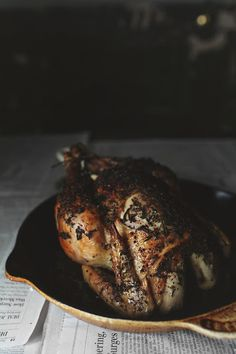 #paleo Best Roast Chicken: 3-4 lb free range chicken, giblets removed; 3 cloves of garlic, peeled and crushed; 5 sprigs of fresh thyme; 2 sprigs of fresh rosemary; 1 tbsp butter/ghee; 1 tbsp fresh thyme, chopped; 1 tbsp fresh rosemary, chopped; 1 tbsp fresh marjoram, chopped; OPTIONAL 1 tbsp fresh culinary green lavender, chopped (use Jacobs Farm green lavender which is picked just before it flowers; they sell it at most Whole Foods stores); Salt and pepper  