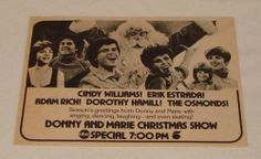 1979 ABC TV Special Ad Donny and Marie Christmas Show | eBay