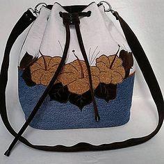 EvitaSk / Romantická kabelka denim - Izabela
