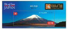 Japanese Postage Stamp - Mt. Fuji  日本国際切手展2011富士山小型シート