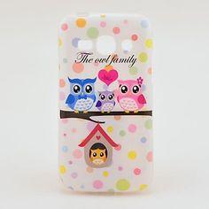 a tampa da caixa da família da coruja TPU Voltar para Samsung Galaxy Ace S7272 3 – BRL R$ 13,35