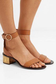 Chloé   Qassie leather sandals    NET-A-PORTER.COM