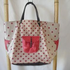 Sac cabas style pomponette