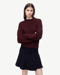 Stripe Flared Wrap Skirt
