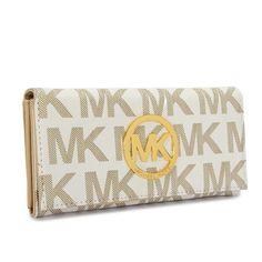 Michael Kors Envelope Large Vanilla Wallet