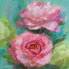 """Daily Paintworks - """"Spring Is Here"""" by Crystal Manning"""