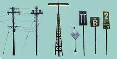 Stevie Ray Prop Design, Set Design, Stevie Ray, Animation Background, Utility Pole, Concept Art, Illustration, Artwork, Weapons